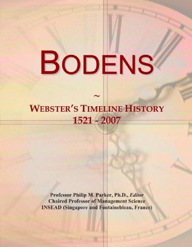 9780497130244: Bodens: Webster's Timeline History, 1521 - 2007