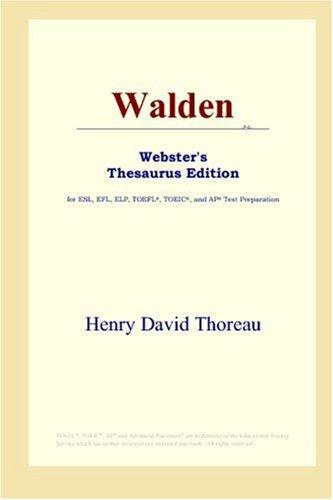 9780497252663: Walden (Webster's Thesaurus Edition)