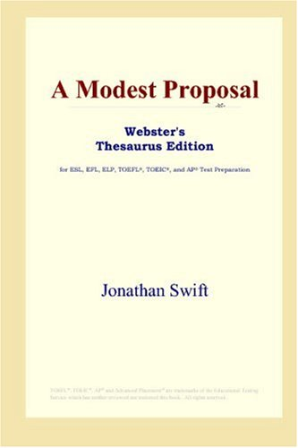 Modest Proposal By Swift Abebooks