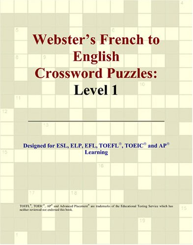 9780497253790: Webster's French to English Crossword Puzzles: Level 1