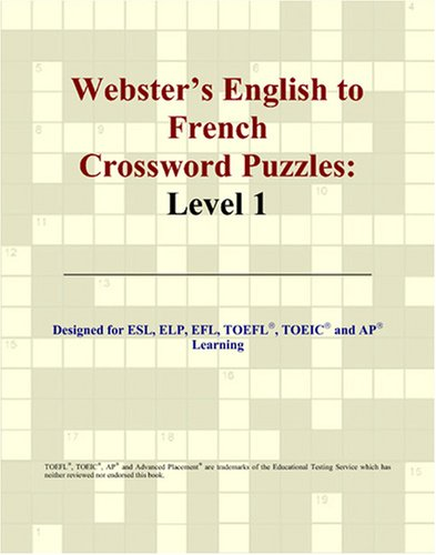 9780497253905: Webster's English to French Crossword Puzzles: Level 1