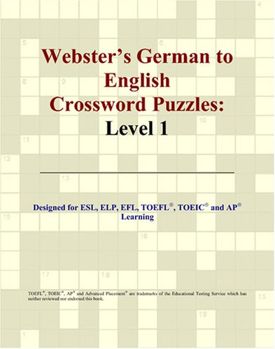 9780497254070: Webster's German to English Crossword Puzzles: Level 1 (German Edition)