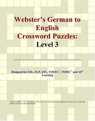 9780497254292: Webster's German to English Crossword Puzzles: Level 3 (German Edition)