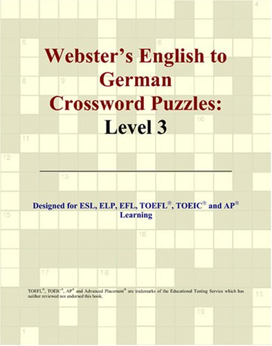 9780497254308: Webster's English to German Crossword Puzzles: Level 3 (German Edition)