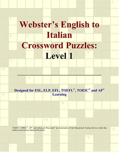 9780497254506: Webster's English to Italian Crossword Puzzles: Level 1
