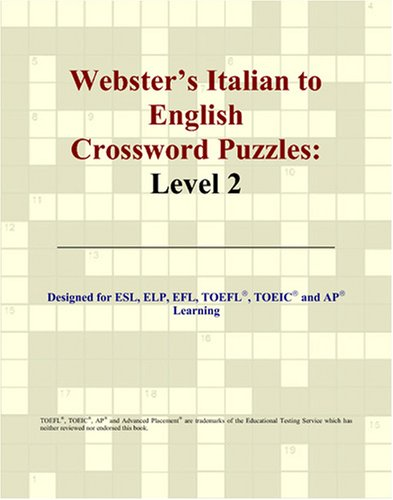 9780497254513: Webster's Italian to English Crossword Puzzles: Level 2 (Italian Edition)