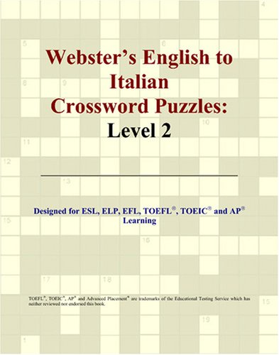 9780497254520: Webster's English to Italian Crossword Puzzles: Level 2 (Italian Edition)