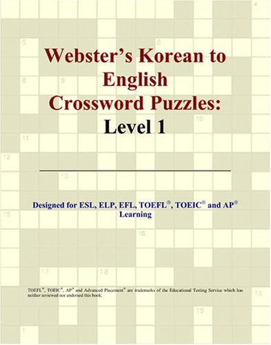 9780497254636: Webster's Korean to English Crossword Puzzles: Level 1 (Korean Edition)