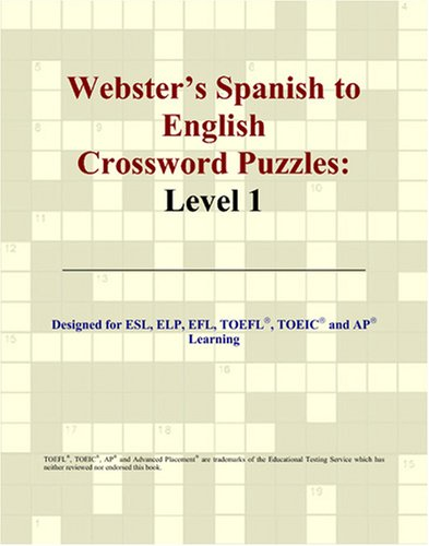9780497255398: Webster's Spanish to English Crossword Puzzles: Level 1