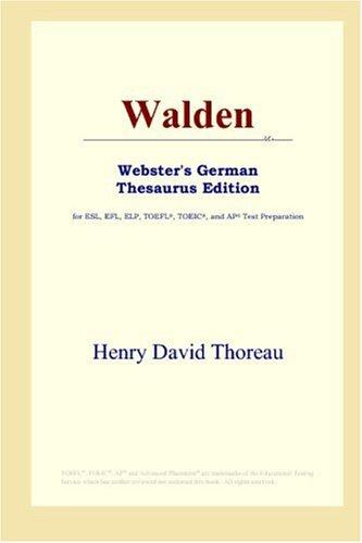9780497257774: Walden (Webster's German Thesaurus Edition)