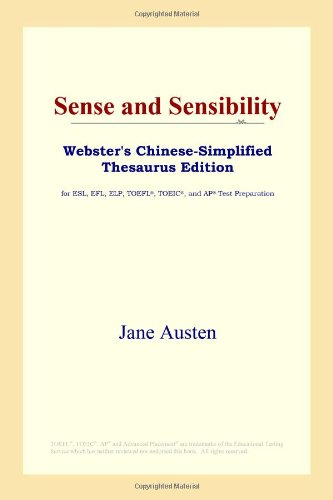 9780497260439: Sense and Sensibility (Webster's Chinese-Simplified Thesaurus Edition) (Chinese Edition)