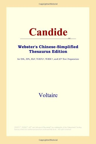 9780497260873: Candide (Webster's Chinese-Simplified Thesaurus Edition) (Chinese Edition)