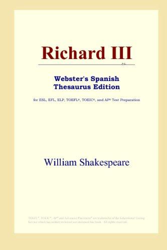 9780497262006: Richard III (Webster's Spanish Thesaurus Edition) (Spanish Edition)