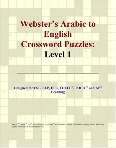 9780497824945: Webster's Arabic to English Crossword Puzzles: Level 1