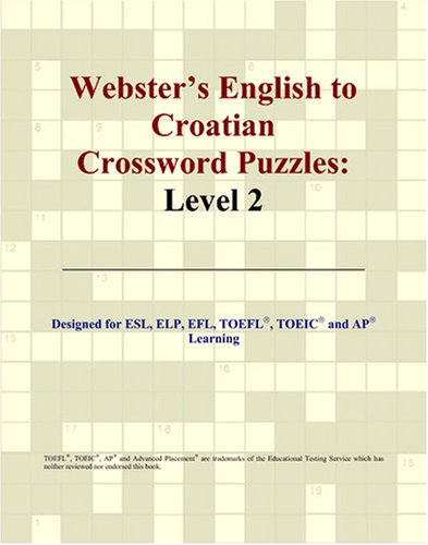 9780497826499: Webster's English to Croatian Crossword Puzzles: Level 2