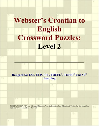 9780497826505: Webster's Croatian to English Crossword Puzzles: Level 2