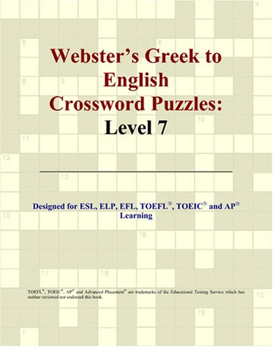 9780497827496: Webster's Greek to English Crossword Puzzles: Level 7
