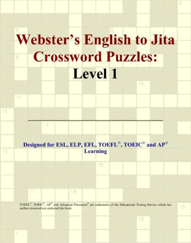 Webster's English to Jita Crossword Puzzles: Level: Philip M. Parker