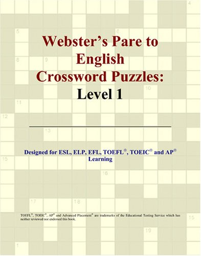 9780497831110: Webster's Pare to English Crossword Puzzles: Level 1