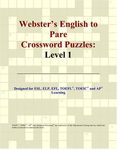 9780497831127: Webster's English to Pare Crossword Puzzles: Level 1