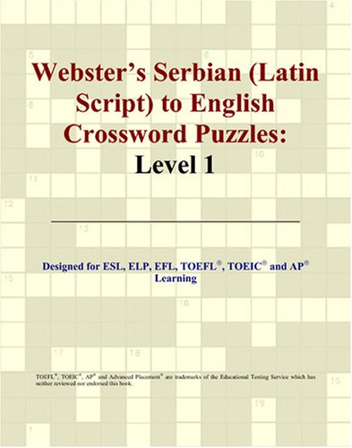 9780497832346: Webster's Serbian (Latin Script) to English Crossword Puzzles: Level 1