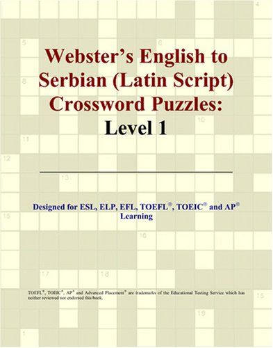 9780497832353: Webster's English to Serbian (Latin Script) Crossword Puzzles: Level 1
