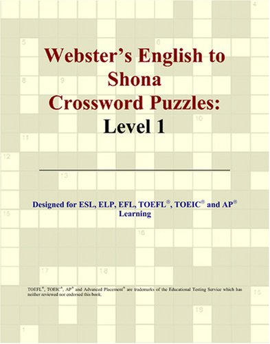 9780497832476: Webster's English to Shona Crossword Puzzles: Level 1