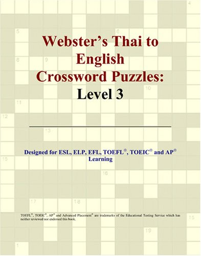 9780497833268: Webster's Thai to English Crossword Puzzles: Level 3