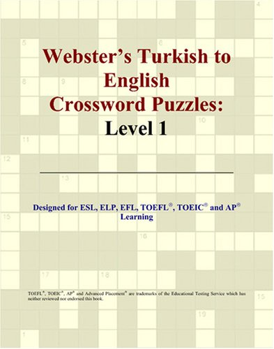 9780497833343: Webster's Turkish to English Crossword Puzzles: Level 1