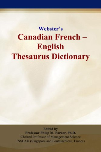 9780497834623: Webster's Canadian French - English Thesaurus Dictionary