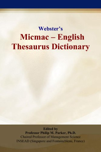 9780497836146: Webster's Micmac - English Thesaurus Dictionary