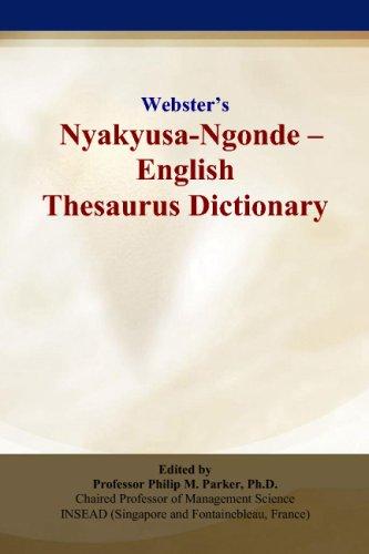9780497836436: Webster's Nyakyusa-Ngonde - English Thesaurus Dictionary