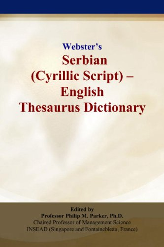 9780497837020: Webster's Serbian (Cyrillic Script) - English Thesaurus Dictionary