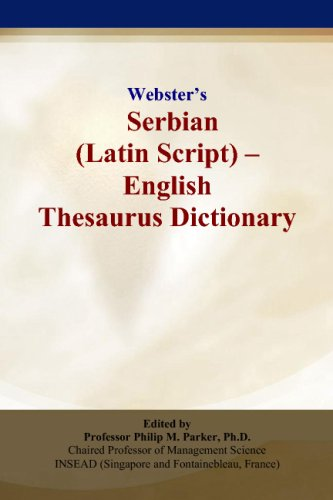 9780497837037: Webster's Serbian (Latin Script) - English Thesaurus Dictionary