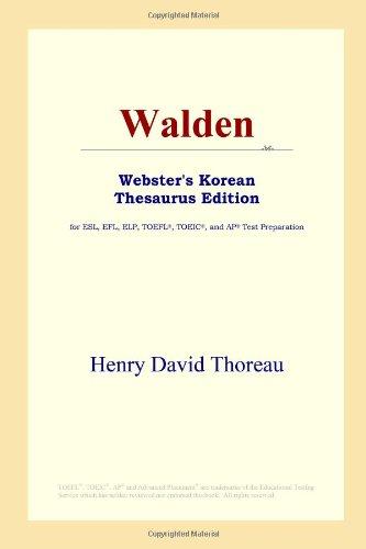 9780497913830: Walden: Webster's Korean Thesaurus Edition