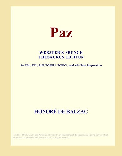 Paz (Webster's French Thesaurus Edition)
