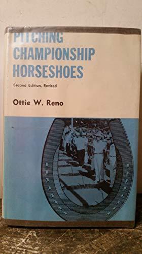 9780498014086: Pitching championship horseshoes