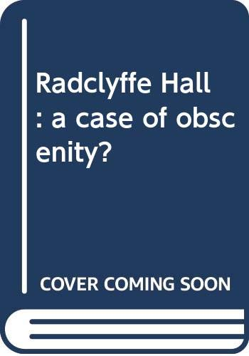 9780498074516: Radclyffe Hall: a case of obscenity?