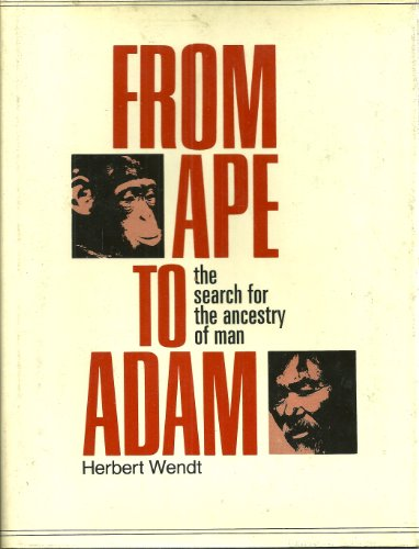 From Ape to Adam: The Search for the Ancestry of Man: Wendt, Herbert