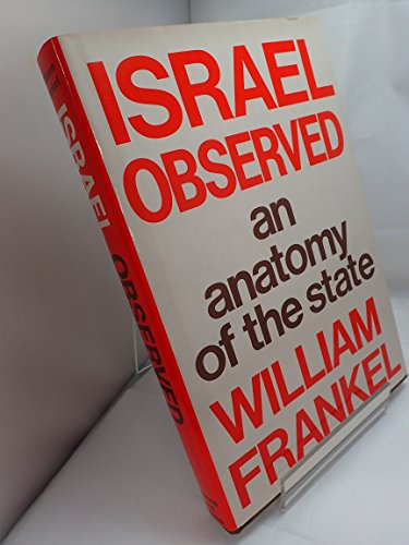 9780500012475: Israel Observed: An Anatomy of the State
