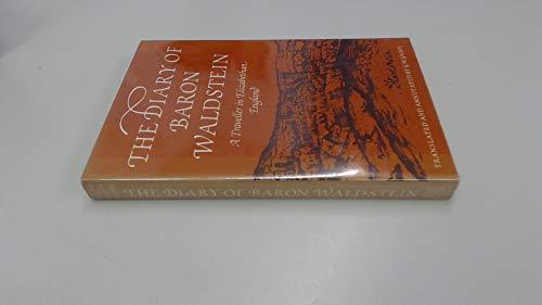 9780500012543: Diary of Baron Waldstein: A Traveller in Elizabethan England