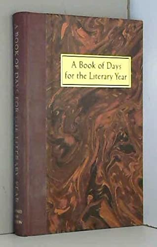 A Book of Days for the Literary: Jones, Neal T.,
