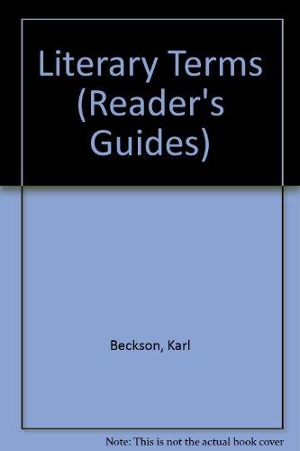 Literary Terms (Reader's Guides): Beckson, Karl &