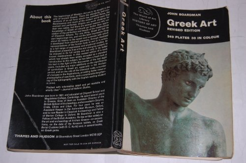 9780500200223: Greek Art (Praeger World of Art Series)