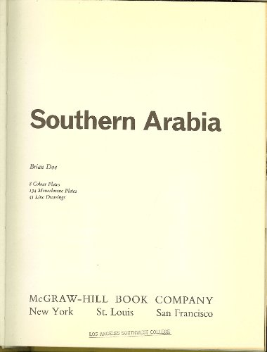 Southern Arabia (New Aspects of Archaeology): Doe, Brian