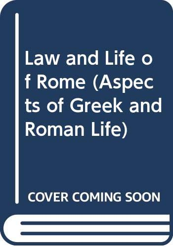 9780500400043: Law and Life of Rome