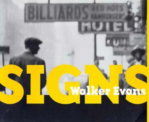9780500542248: Walker Evans: Signs /Anglais