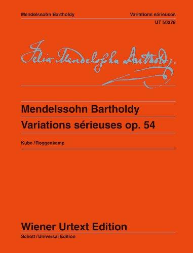 9780500573334: Variations sérieuses - Wiener Urtext Edition - piano - ( UT 50278 )