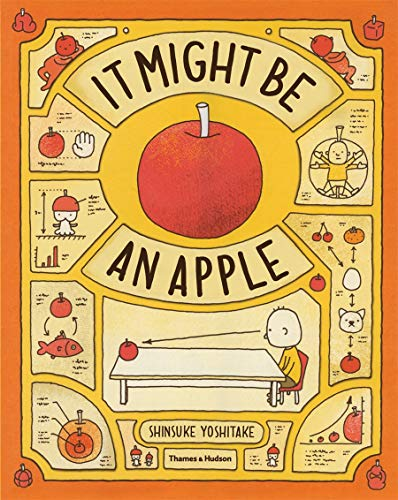 It Might be an Apple 9780500650486 It Might Be an Apple is a boisterous, philosophical shaggy dog story for young children - and probably a few adults. The story follows a child's hilarious, wildly inventive train of thought through all the things an apple might be if it is not, in fact, an apple. Distrusting the apple's convincing appearance, the child's imagination spirals upwards and outwards into a madcap fantasy world - maybe it's a star from outer space with tiny aliens on board? Perhaps it wants a cool hairstyle? Does it feel scared, or snore at night? Children can see what all these crazy, funny things might look like. This book is not only huge fun, but it also encourages a questioning, challenging approach to the world around us.