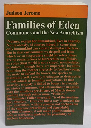 9780500930021: Families of Eden. Communes and the New Anarchism